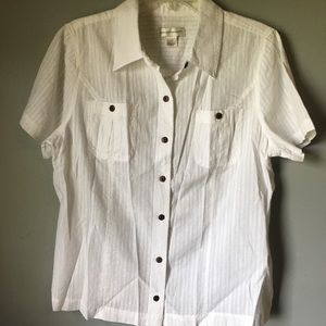 Christopher & Banks white button up blouse